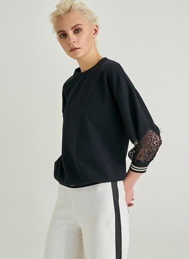 Dantel Detaylı Sweatshirt-People By Fabrika